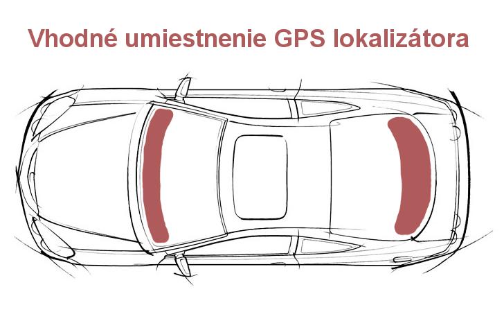 Vhodné umiestnenie GPS lokalizátora