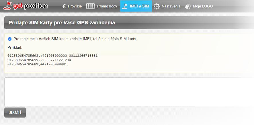 Partnerská konzola - pridanie SIM